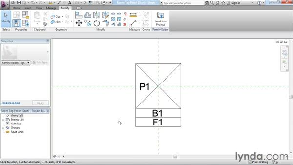 Shared parameters for tags: Revit Architecture: The Family Editor