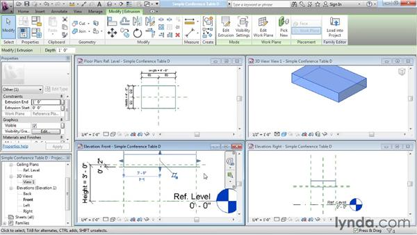 Understanding work planes: Revit Architecture: The Family Editor