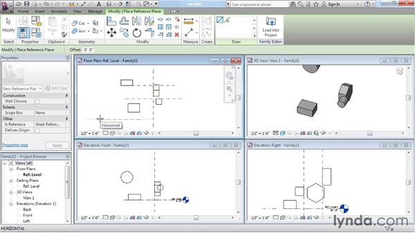 Understanding reference planes: Revit Architecture: The Family Editor