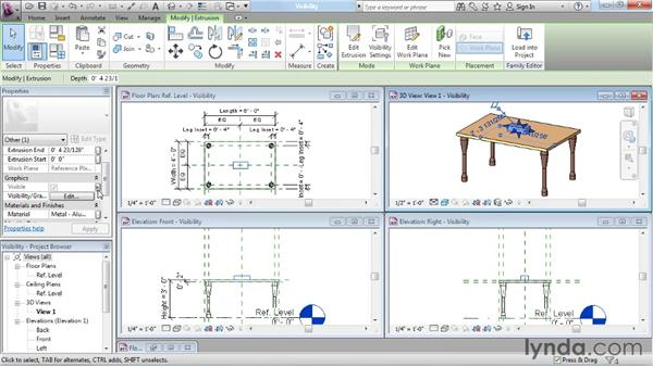 Creating visibility parameters: Revit Architecture: The Family Editor