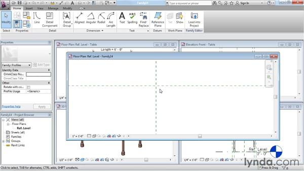 Creating a profile family: Revit Architecture: The Family Editor