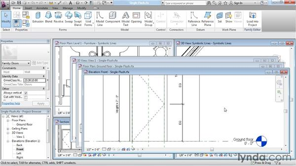 Understanding symbolic lines: Revit Architecture: The Family Editor