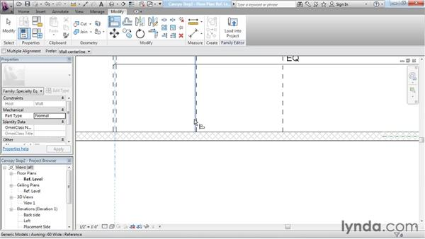 Building arrays and applying rules: Revit Architecture: The Family Editor
