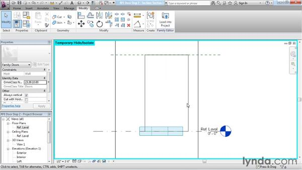 Building geometry on a reference line: Revit Architecture: The Family Editor