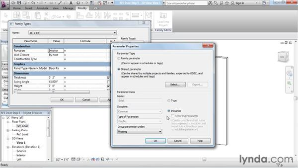 Shared parameters: Revit Architecture: The Family Editor