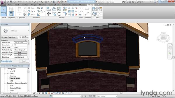 Introduction to the arch family: Revit Architecture: The Family Editor