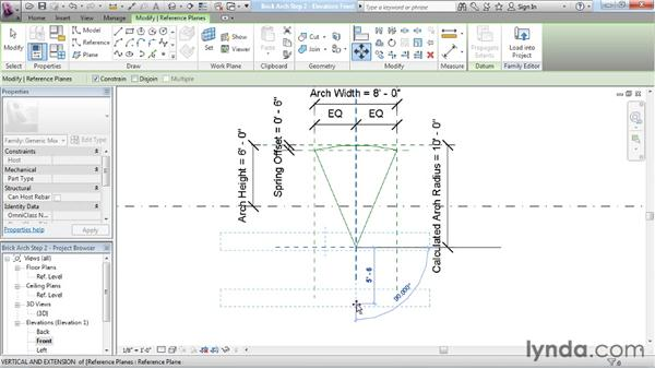 Locking down a curve: Revit Architecture: The Family Editor