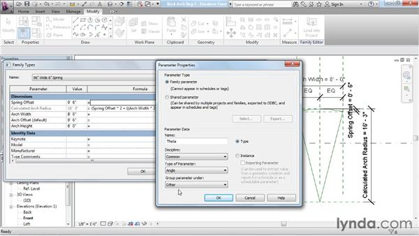 Working with advanced formulas: Revit Architecture: The Family Editor