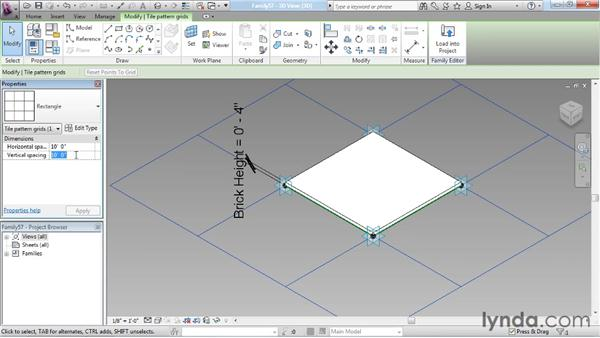 Finalizing the arch: Revit Architecture: The Family Editor