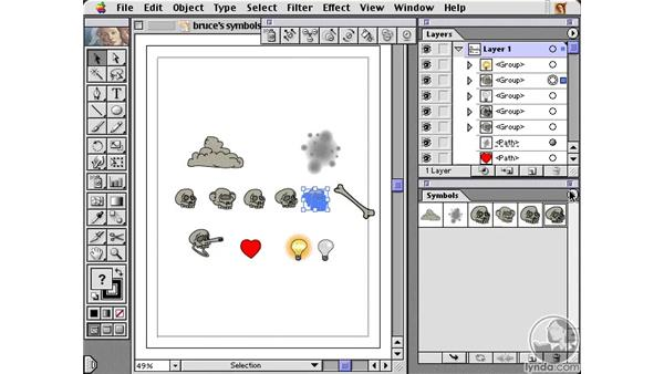 creating custom symbols: Learning Illustrator 10