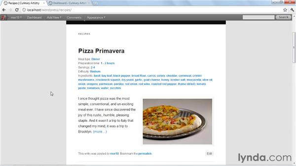 Tour of the finished project: Create an Online Portfolio with WordPress