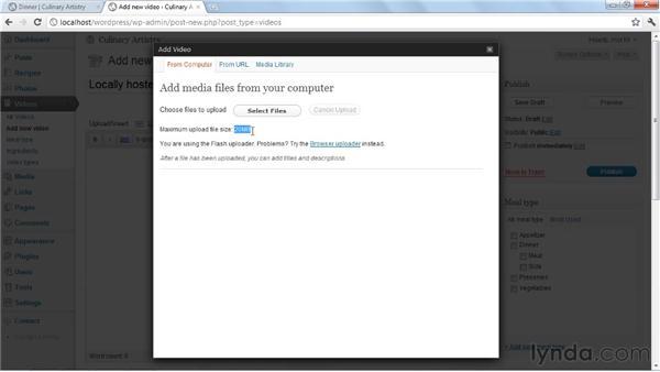 Uploading videos to WordPress: Create an Online Portfolio with WordPress