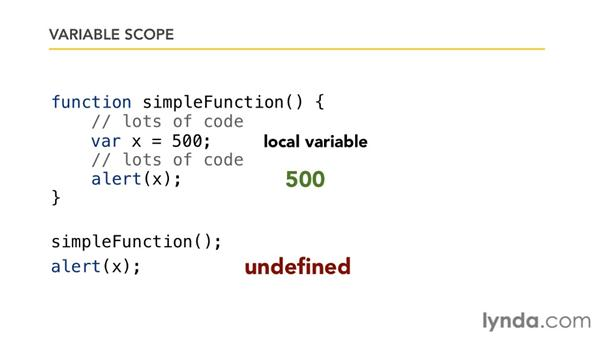 Understanding variable scope: Foundations of Programming: Fundamentals