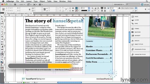 006 Using the Eyedropper tool to pick up character or paragraph attributes: InDesign Secrets