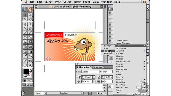 styling variables: Learning Illustrator 10