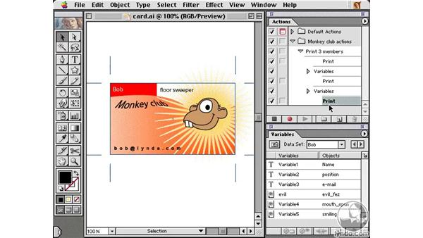 automating printing: Learning Illustrator 10