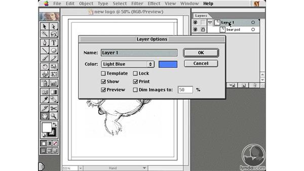 creating a template: Learning Illustrator 10