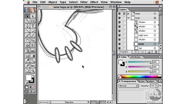 the bear body: Learning Illustrator 10