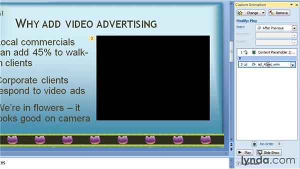 Playing a movie across slides: PowerPoint 2007: Audio and Video in Depth