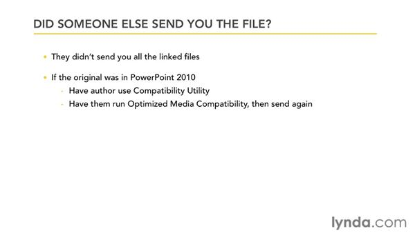 Troubleshooting videos that won't play: PowerPoint 2007: Audio and Video in Depth