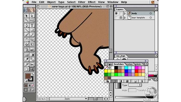 coloring your logo: Learning Illustrator 10
