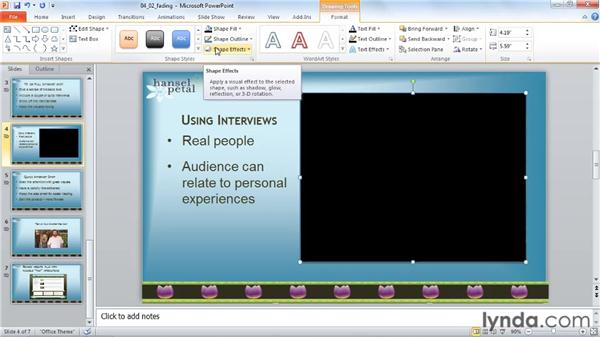 Fading in and out: PowerPoint 2010: Audio and Video in Depth