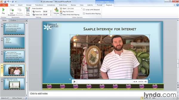 Play full screen: PowerPoint 2010: Audio and Video in Depth