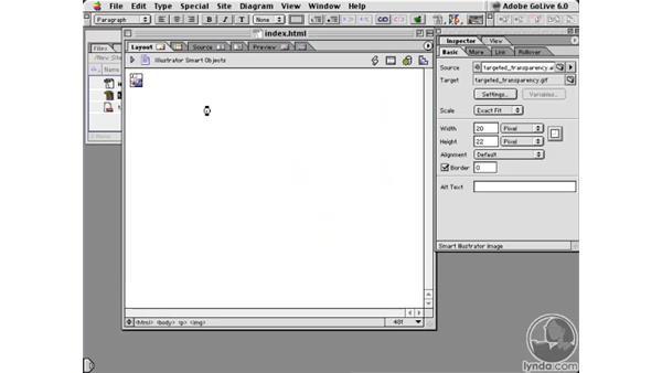 golive smart object: Learning Illustrator 10