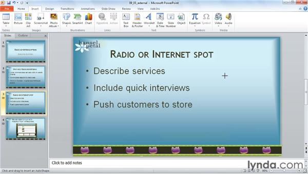 Playing audio in an external application: PowerPoint 2010: Audio and Video in Depth