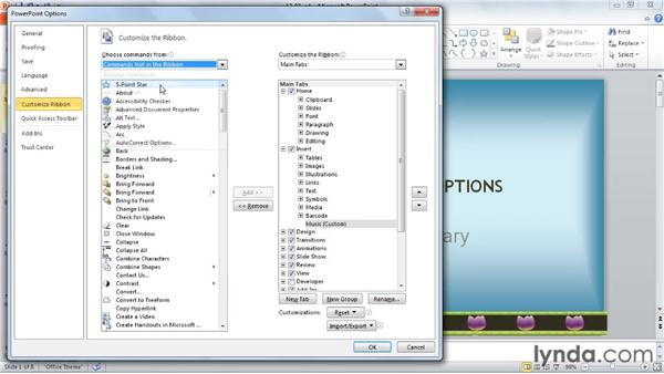 Playing audio tracks from a CD: PowerPoint 2010: Audio and Video in Depth
