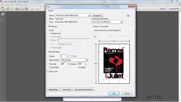 Printing posters and banners: Acrobat X Tips and Tricks