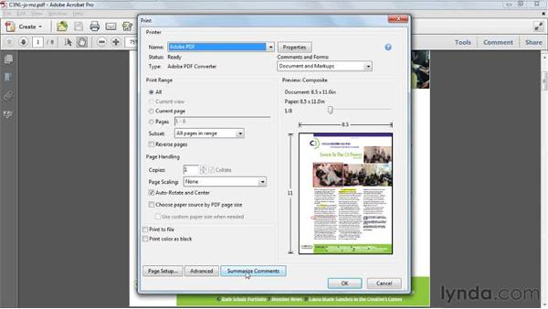 Printing comments: Acrobat X Tips and Tricks