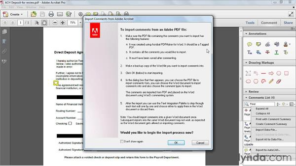 Exporting comments to Microsoft Word: Acrobat X Tips and Tricks