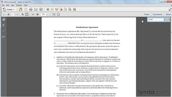 Searching a scanned PDF: Acrobat X Tips and Tricks
