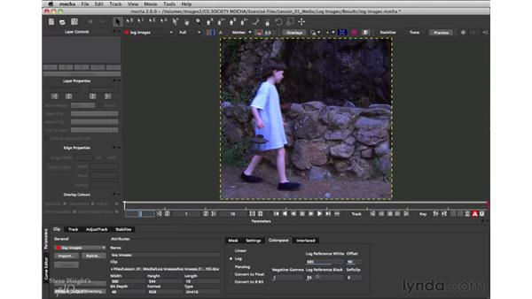 Setting the color space: mocha 2.6 Essential Training