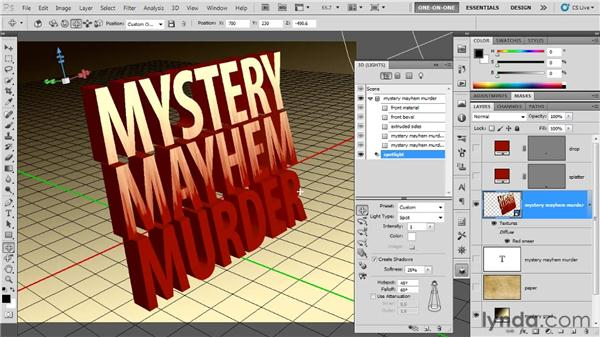 Casting and catching light: Photoshop CS5 Extended One-on-One: 3D Type Effects