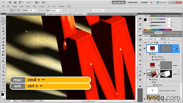 Creating drop-and-splatter effects: Photoshop CS5 Extended One-on-One: 3D Type Effects