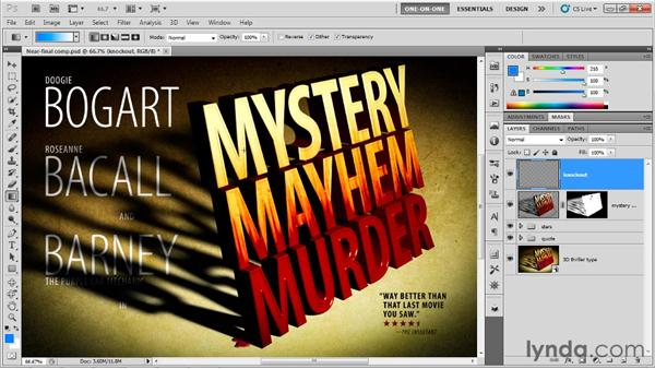 Mastering register and knockout: Photoshop CS5 Extended One-on-One: 3D Type Effects