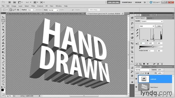 Tracing letters with filters: Photoshop CS5 Extended One-on-One: 3D Type Effects