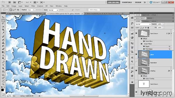 "Turning a cartoon into ""glory type"": Photoshop CS5 Extended One-on-One: 3D Type Effects"