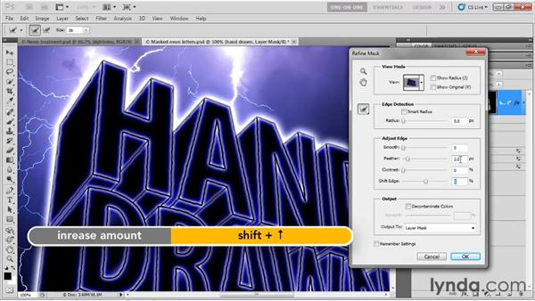 Changing glow, mask, and color: Photoshop CS5 Extended One-on-One: 3D Type Effects