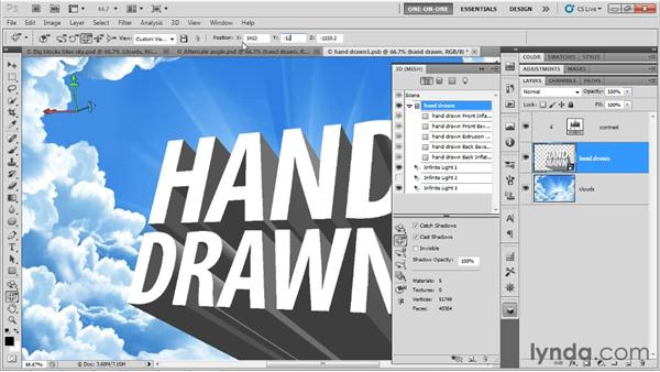 Modifying your hand-drawn 3D text: Photoshop CS5 Extended One-on-One: 3D Type Effects