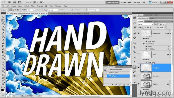 Updating static layers and masks: Photoshop CS5 Extended One-on-One: 3D Type Effects