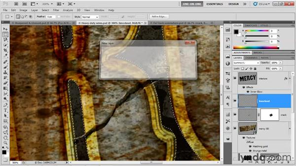 Adding a crack to any letter: Photoshop CS5 Extended One-on-One: 3D Type Effects