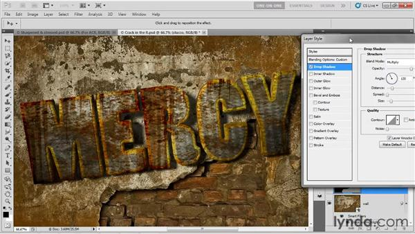 Lighting a background to match your type: Photoshop CS5 Extended One-on-One: 3D Type Effects