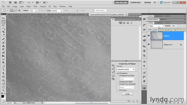 Assigning materials and bump maps: Photoshop CS5 Extended One-on-One: 3D Type Effects
