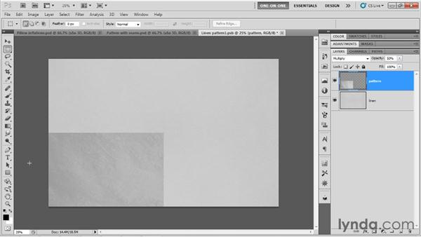 Removing seams from a bump map: Photoshop CS5 Extended One-on-One: 3D Type Effects