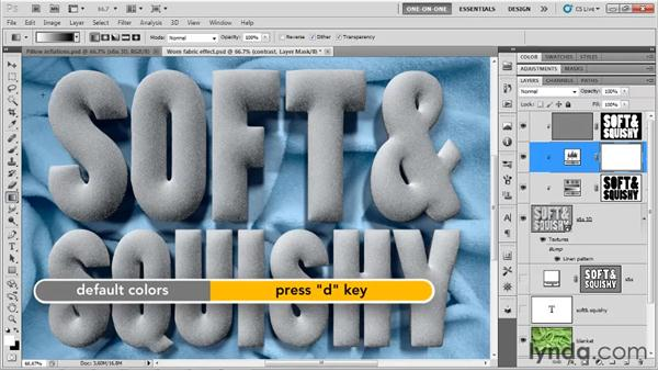 Resolving last-minute lighting issues: Photoshop CS5 Extended One-on-One: 3D Type Effects
