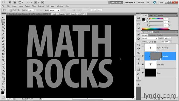 Making blocky comic-book-style type: Photoshop CS5 Extended One-on-One: 3D Type Effects