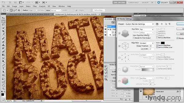 Tracing and shading the blocks: Photoshop CS5 Extended One-on-One: 3D Type Effects